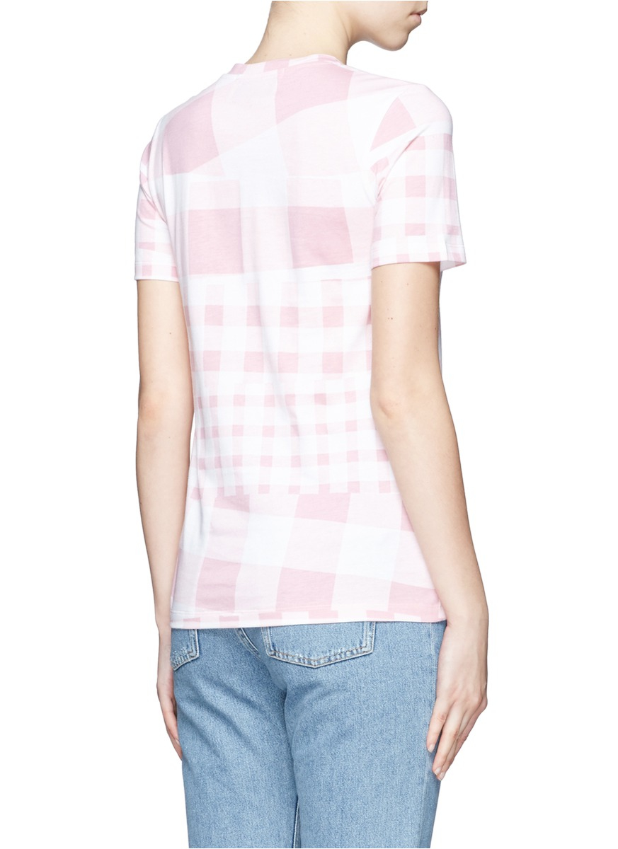 Tre C Cile Mix Gingham Flamingo Print T Shirt In Pink Lyst