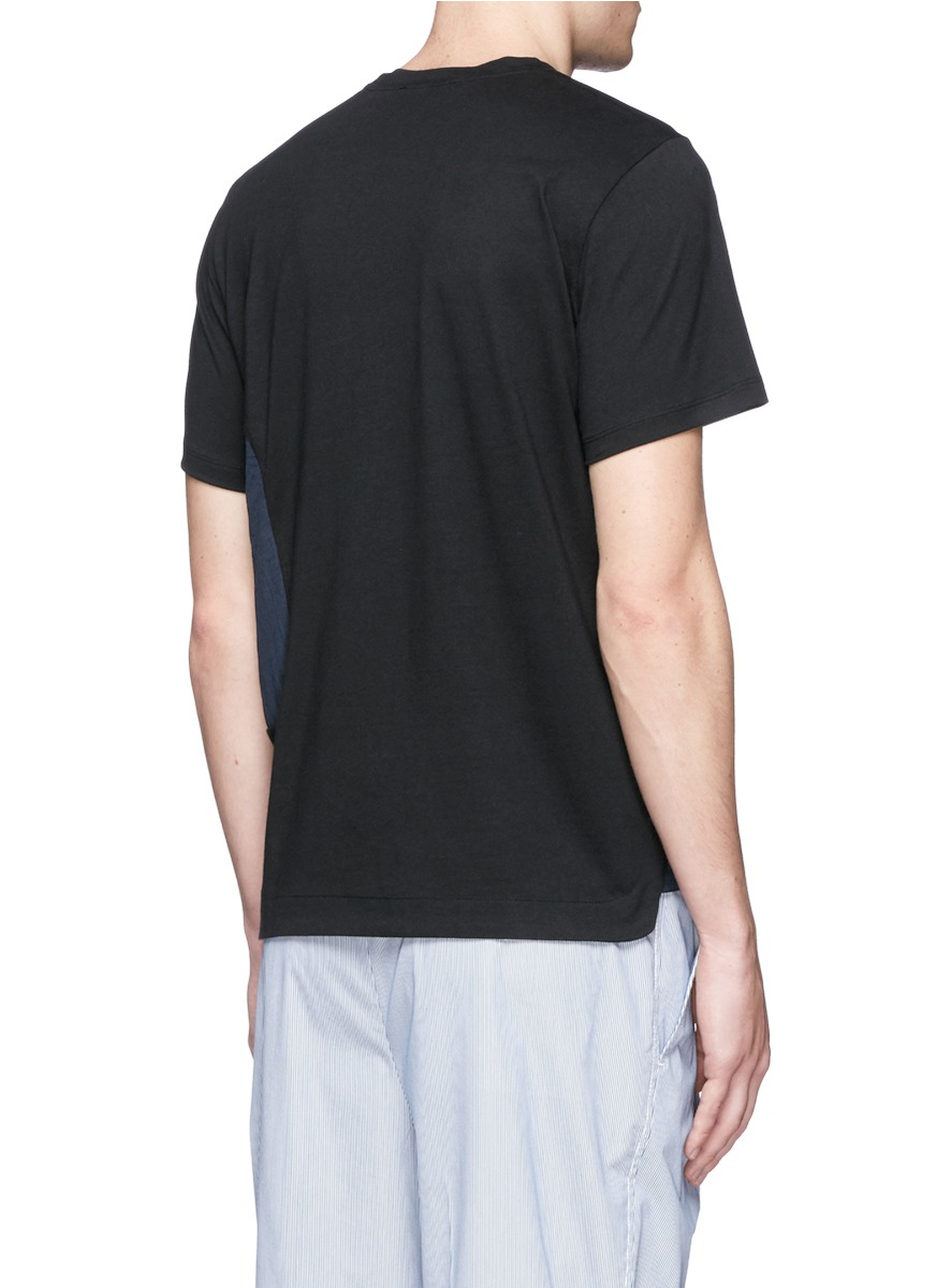 Tim coppens zip pocket t shirt in black for men lyst for Travel shirts with zipper pockets