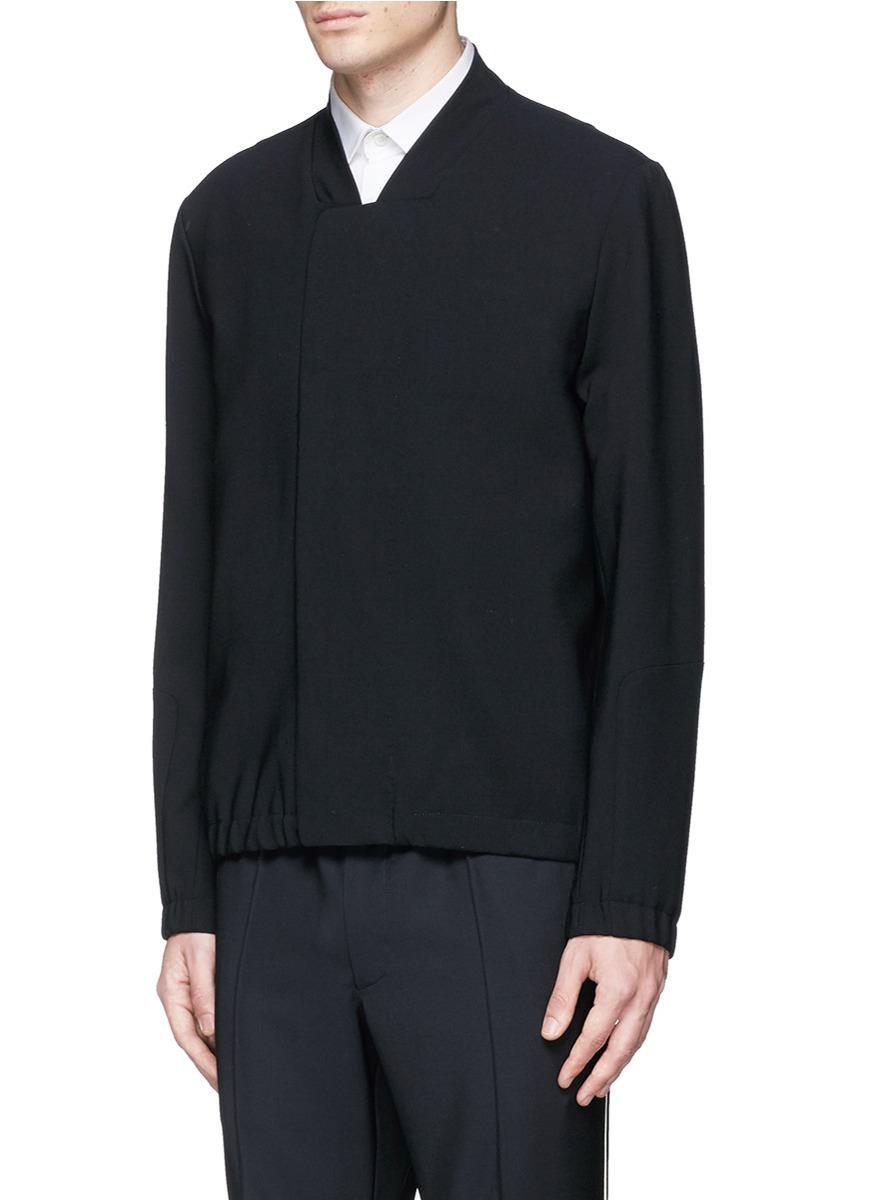 Tim Coppens Bonded Virgin Wool Bomber Jacket in Black for Men