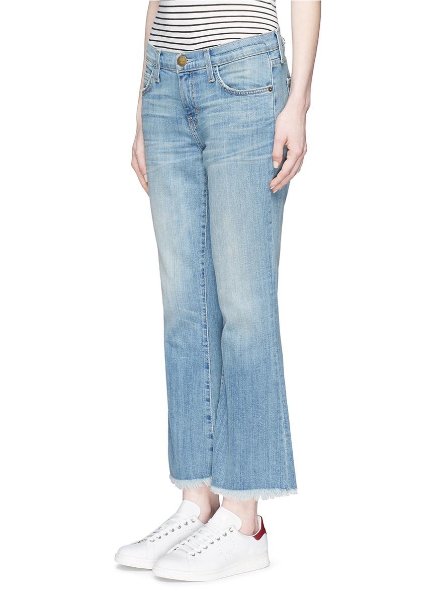 Current/Elliott Denim The Girl Crush Mid-rise Flared Jeans in Mid Denim (Blue)