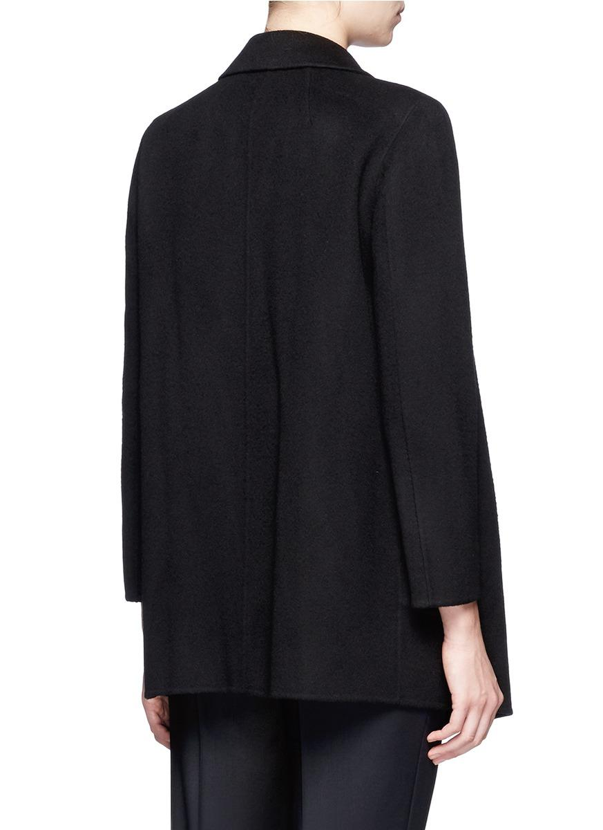 Theory Clairene Double Face Wool Cashmere Coat In Black
