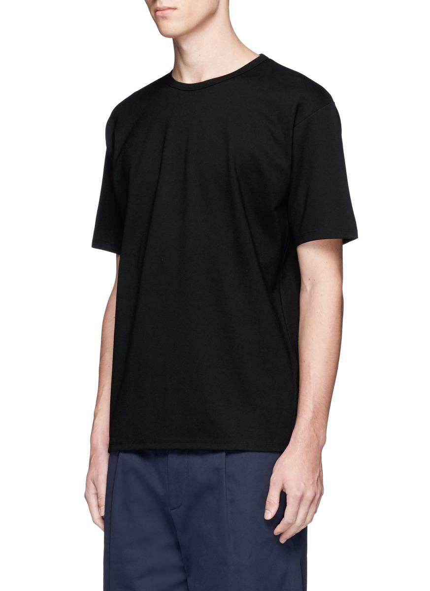 acne 39 niagara tech 39 interlock jersey t shirt in black for men lyst. Black Bedroom Furniture Sets. Home Design Ideas