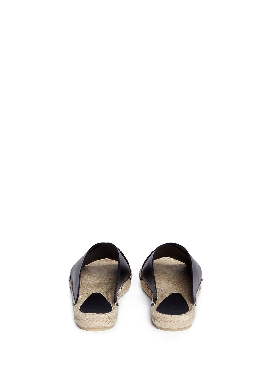 Vince Castel Criss Cross Leather Espadrilles In Black Lyst