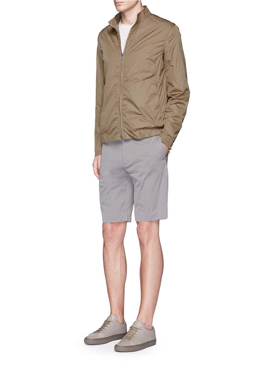 Theory Synthetic 'trinton' Zip Cuff Nylon Jacket in Natural for Men