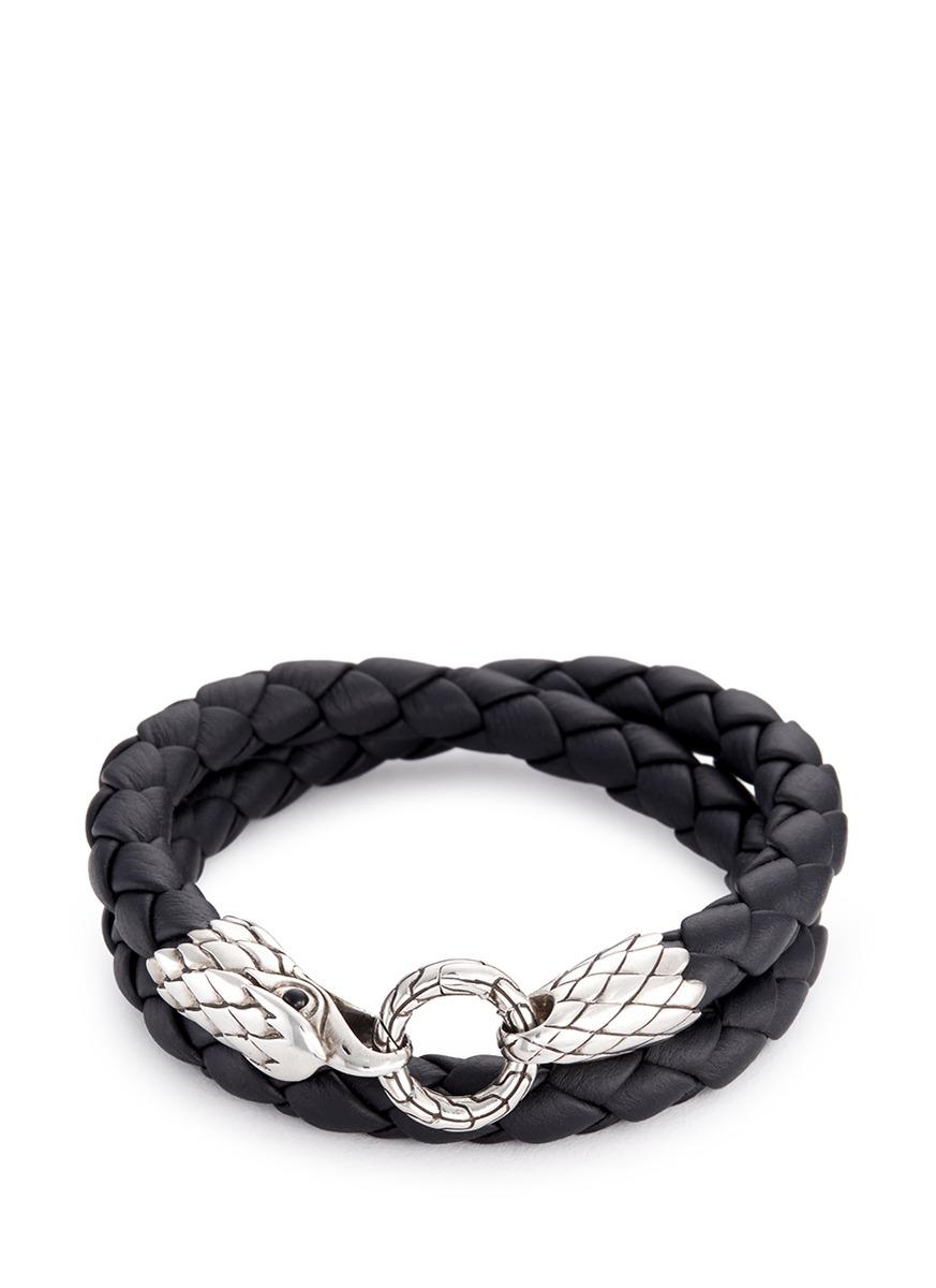 Lyst John Hardy Onyx Silver Eagle Braided Leather