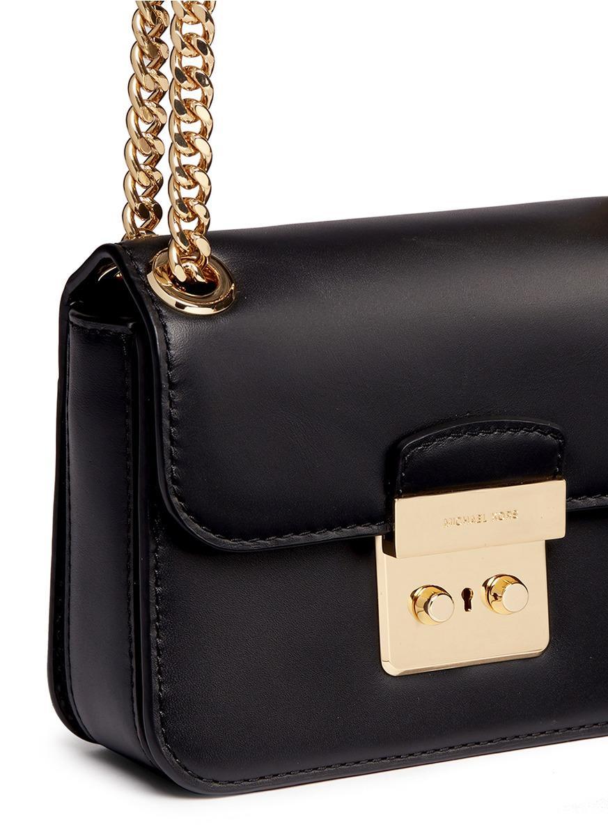 1367fcda99a0 Michael Kors 'sloan Editor' Small Chain Crossbody Bag in Black - Lyst