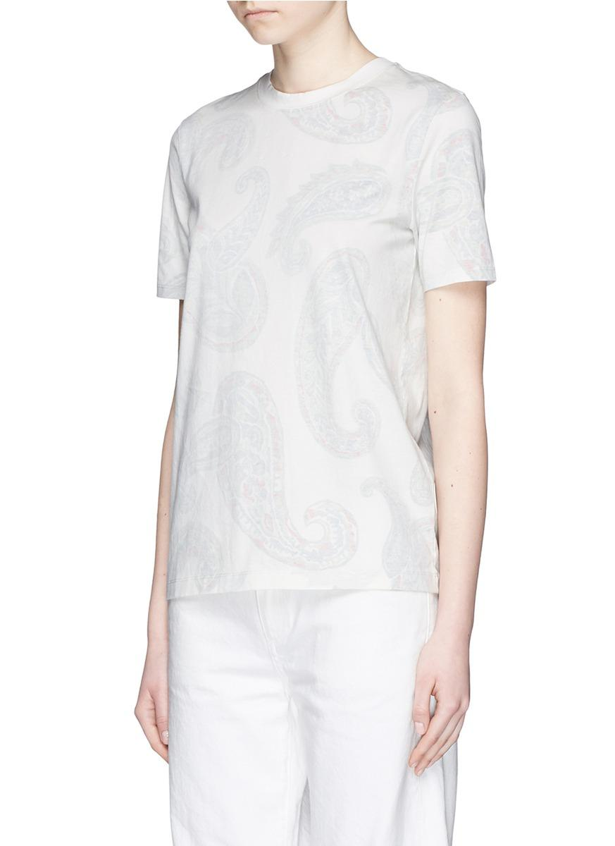 Lyst Acne Studios 39 Taline 39 Paisley Print T Shirt In White