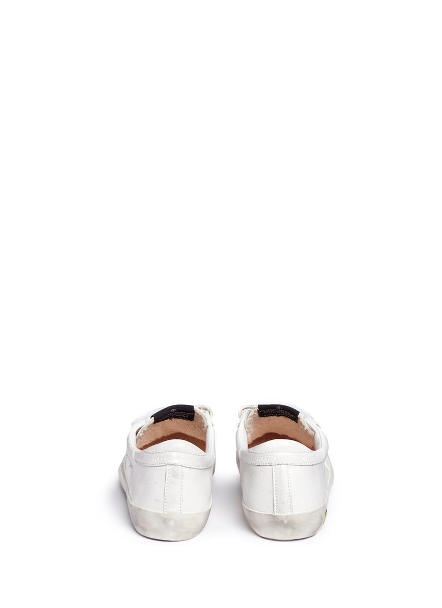 Golden Goose Deluxe Brand Goose Lc-503053645-kid - Superstar Velcro Sneaker In Lth in White