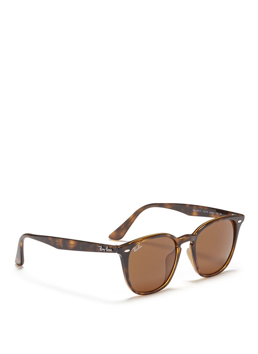 Ray-Ban 'rb4261' Tortoiseshell Acetate Mirror Sunglasses in Black