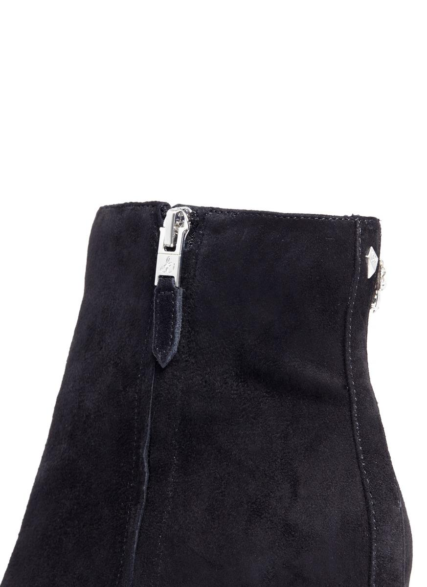 640a9a813 Lyst - Sam Edelman  taye  Jewelled Insect Suede Ankle Boots in Blue