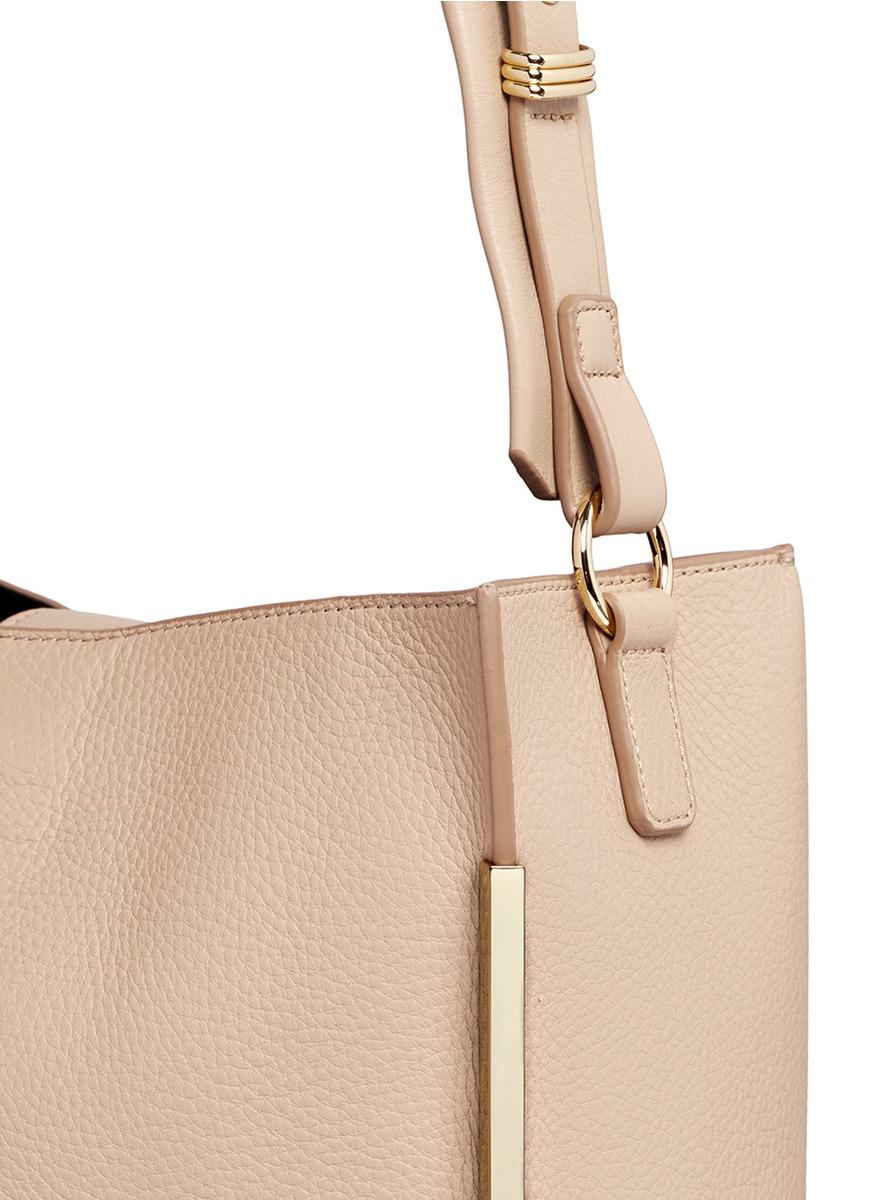 2c29a751679 Lyst - Stuart Weitzman  chelhobo  Pebbled Calfskin Leather Crossbody Bag