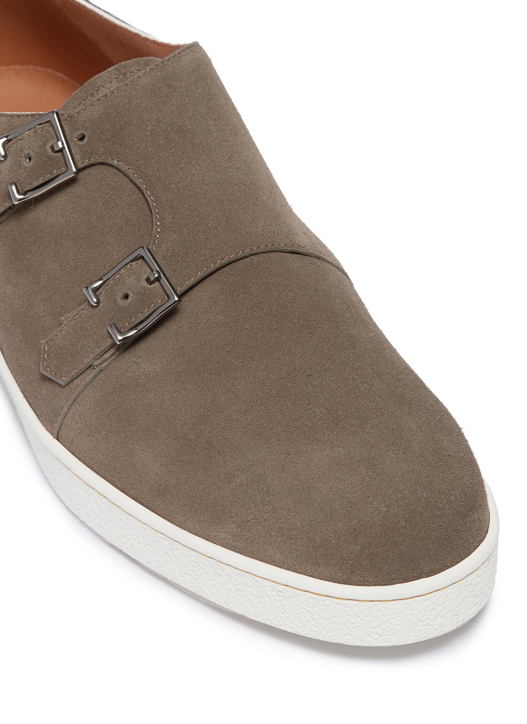 double monk strap sneaker