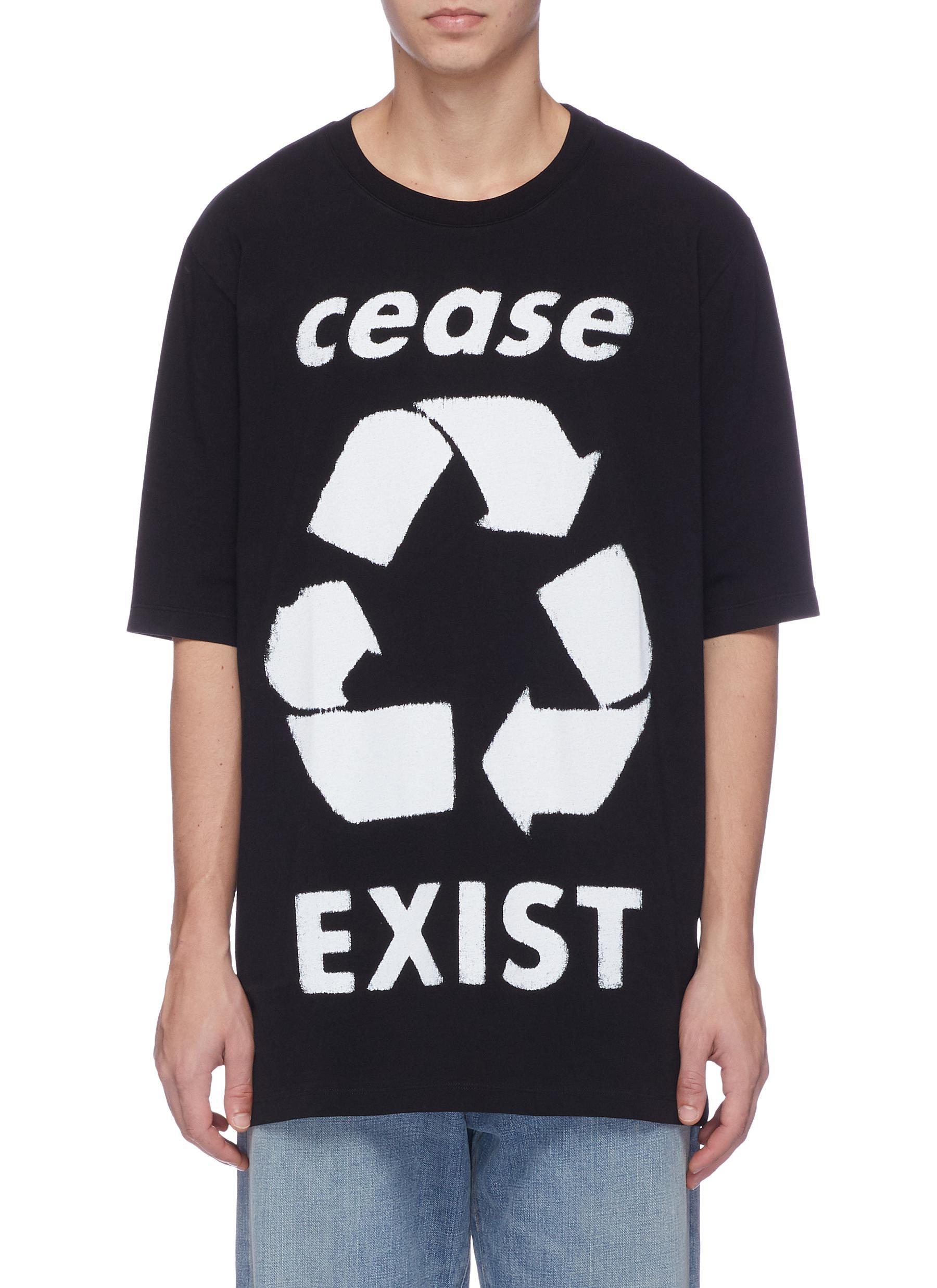 Lyst faith connexion cease exist recycle print t shirt in black view fullscreen thecheapjerseys Image collections