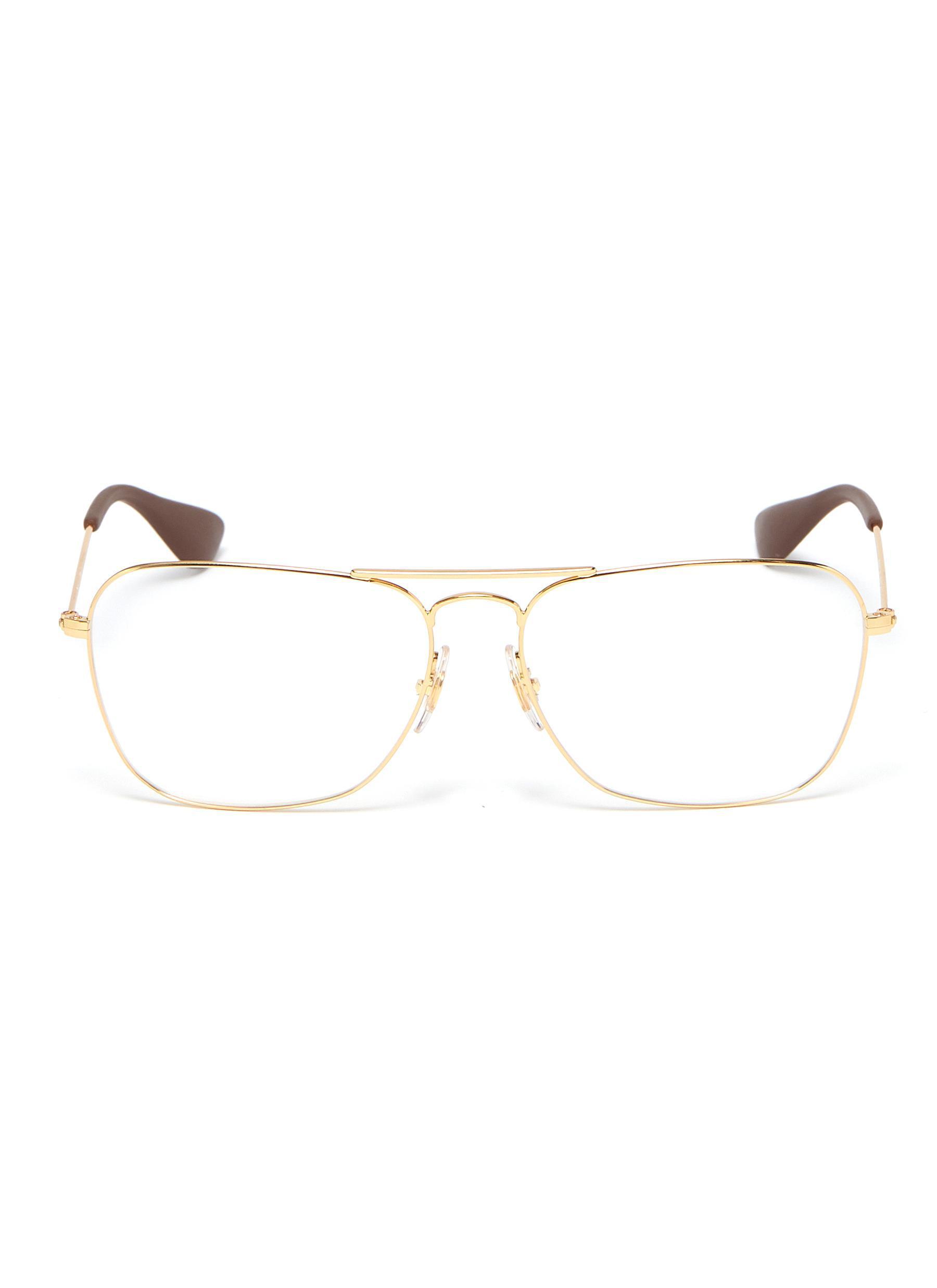 7f77d5cc8 Ray-Ban 'rx3610' Metal Square Optical Glasses - Lyst