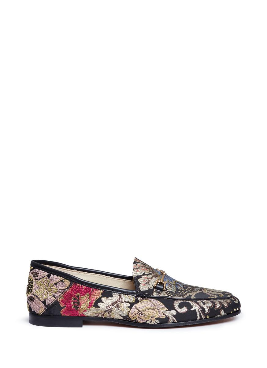 Loraine Floral Jacquard Printed Loafers 5oAtPA1wUl