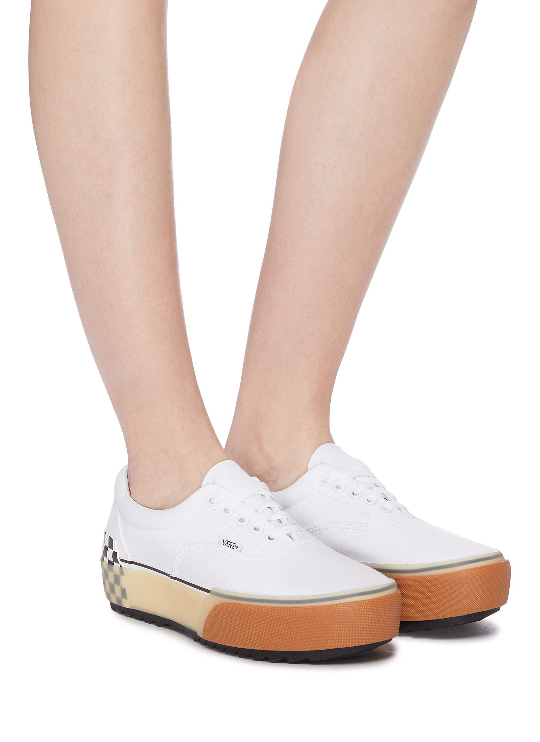 Vans Rubber Era Stacked White Sneakers