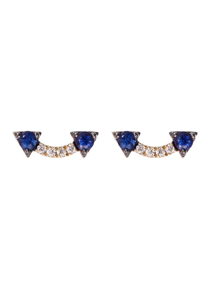 Khai Khai Jaws Smiley earrings - Metallic tXVL32LP