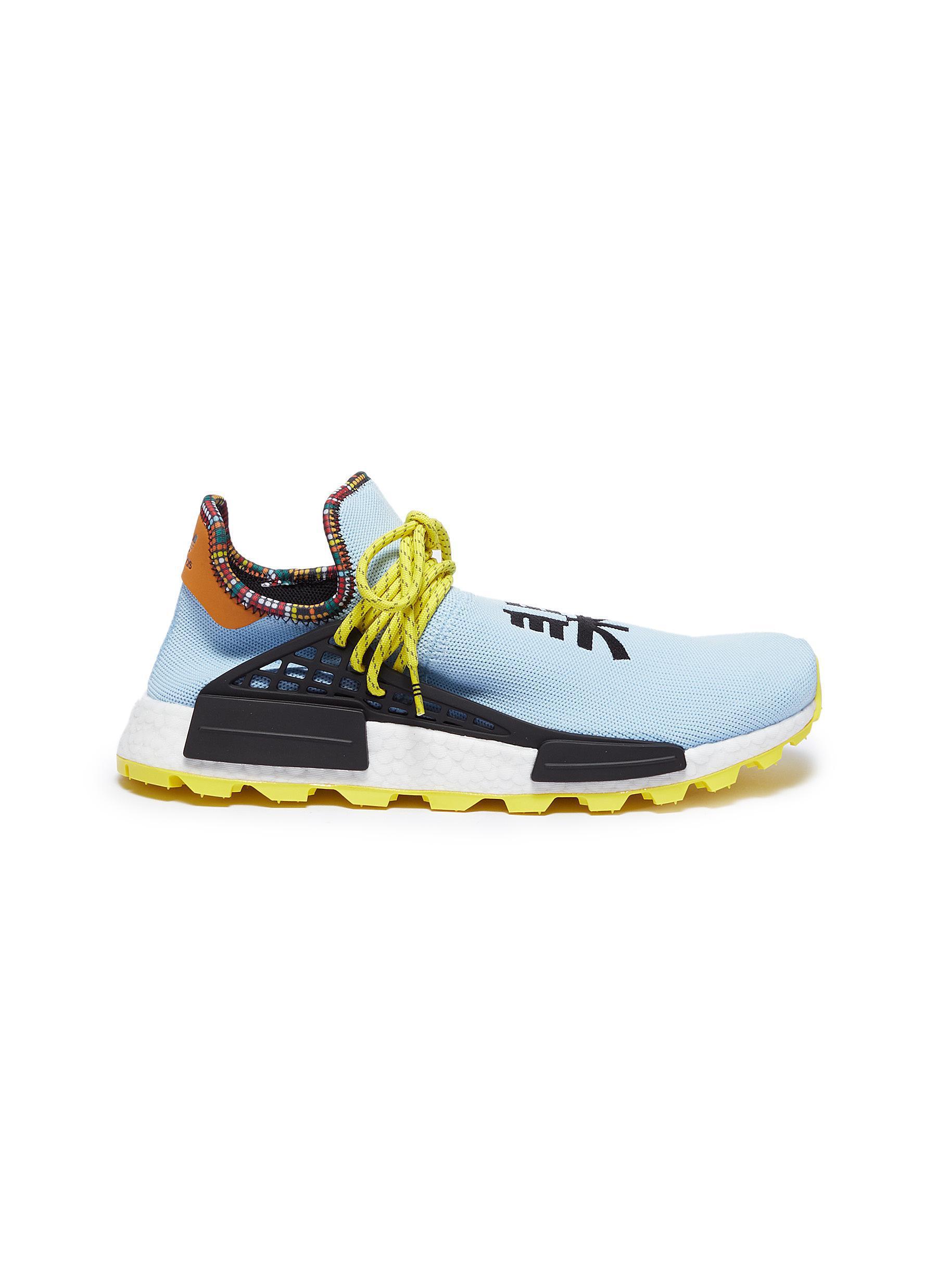 2297e8cf3206e adidas Originals. Men s Blue  solarhu Nmd  Slogan Embroidered Primeknit  Trainers