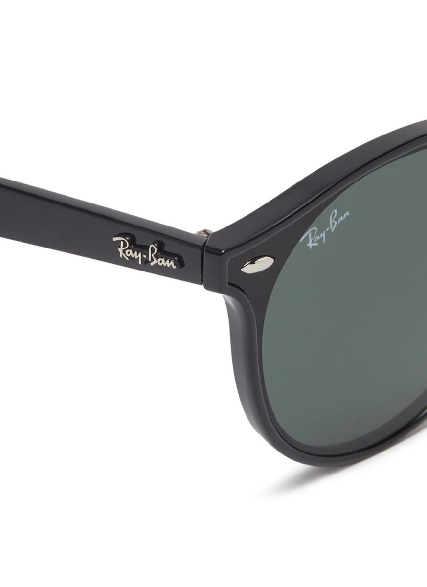 Ray-Ban 'blaze' Acetate Round Sunglasses in Black