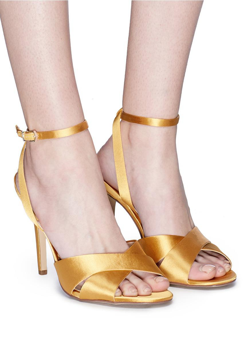 Sam Edelman Shoes | Orange Suede Aly Ankle Strap Sandal