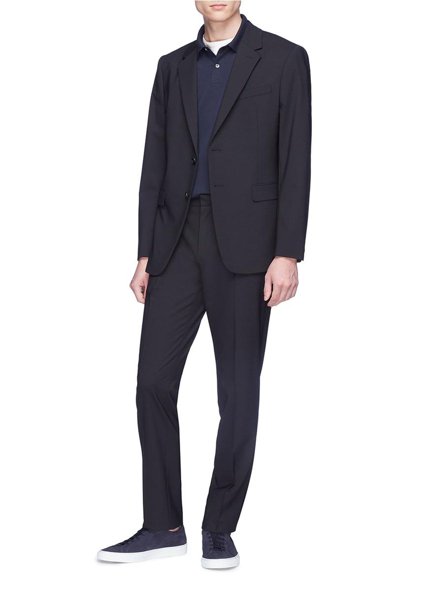 Theory 'mayer' Virgin Wool Suiting Pants in Black for Men