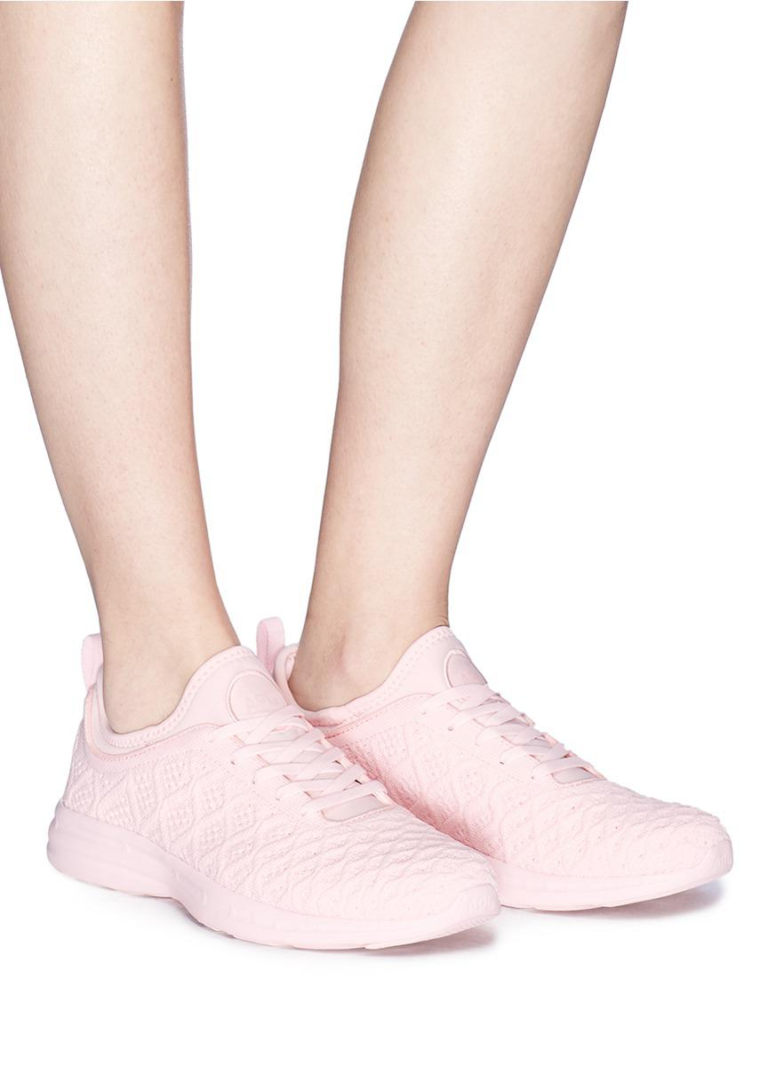 Athletic Propulsion Labs Rubber 'techloom Phantom' Knit Sneakers in Pink