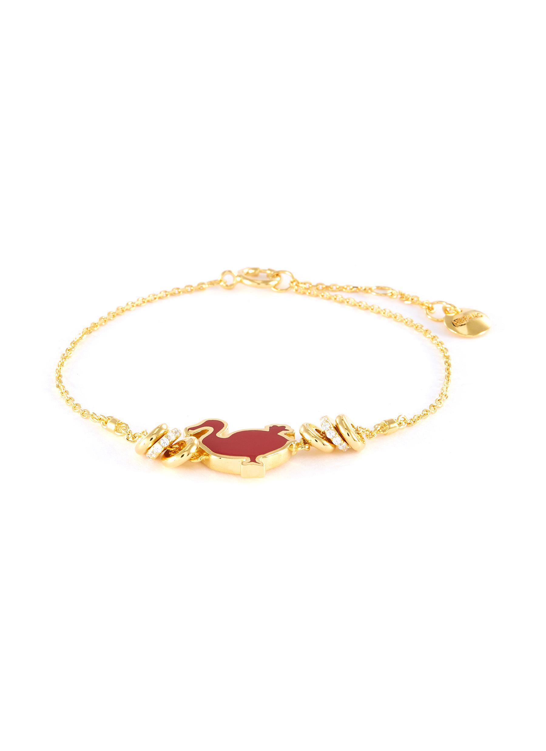 4e4d6fabf390a Women's Metallic 'dodo' Cubic Zirconia Charm Chain Bracelet