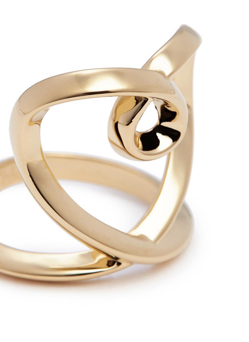 Chloé 'heart' Twist Band Ring in Metallic