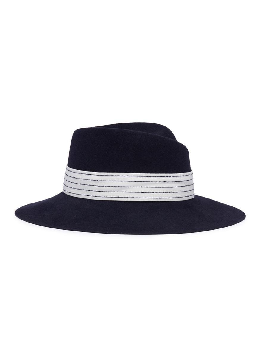 Virginie cruising stripes hat - Black Maison Michel w8ByQpJm