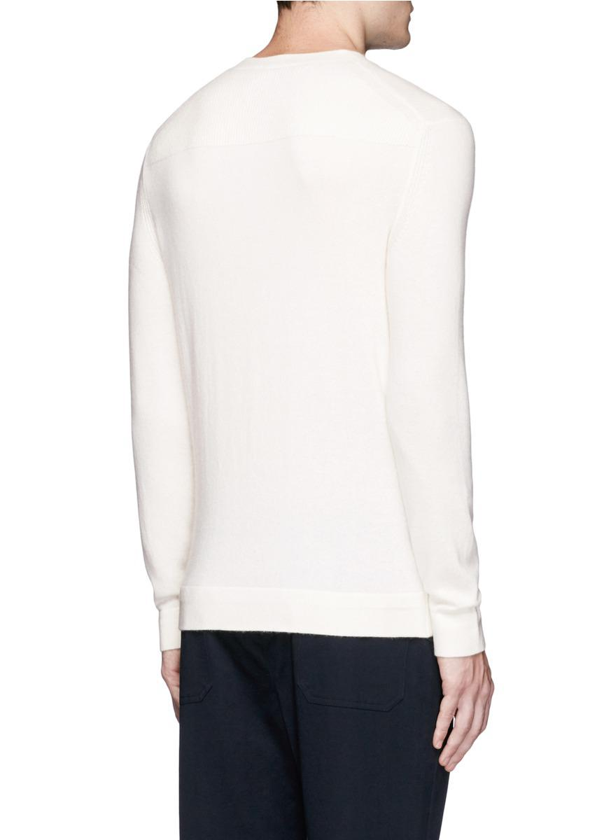 Theory 'donners C' Cashmere Sweater in White for Men