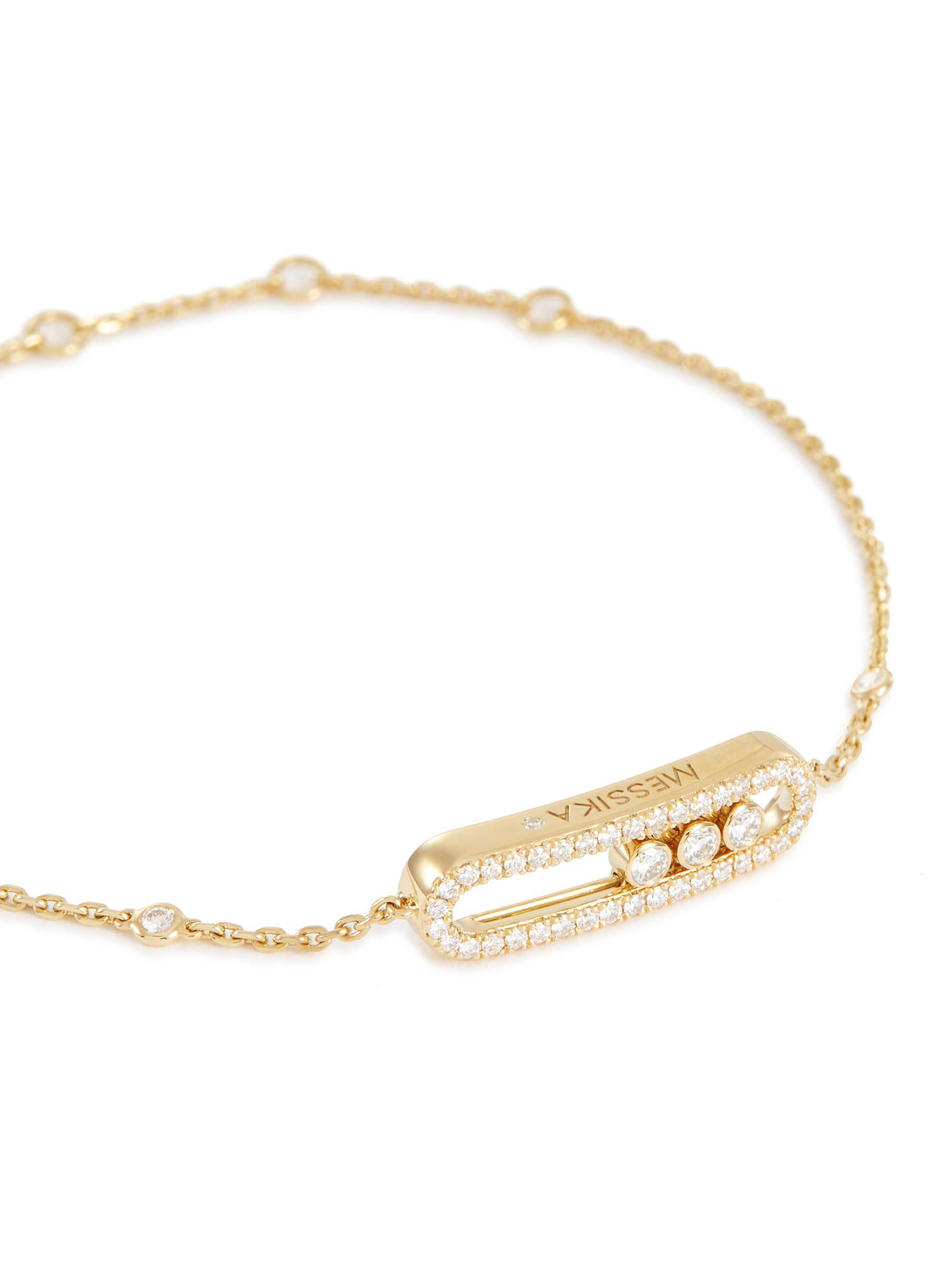 Baby Move Pavé Diamond 18k Yellow Gold Bracelet