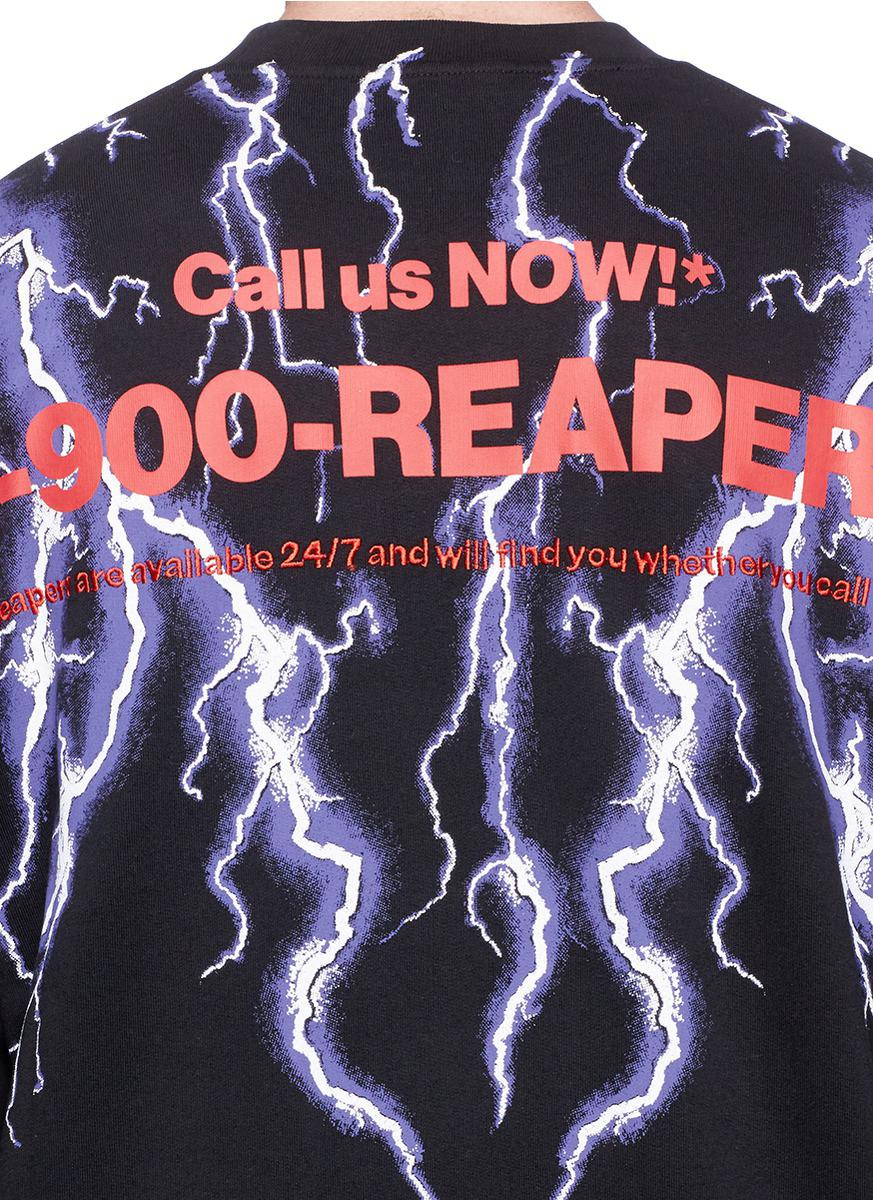85535aca0 Alexander Wang Lightning Collage Sweatshirt in Black - Lyst