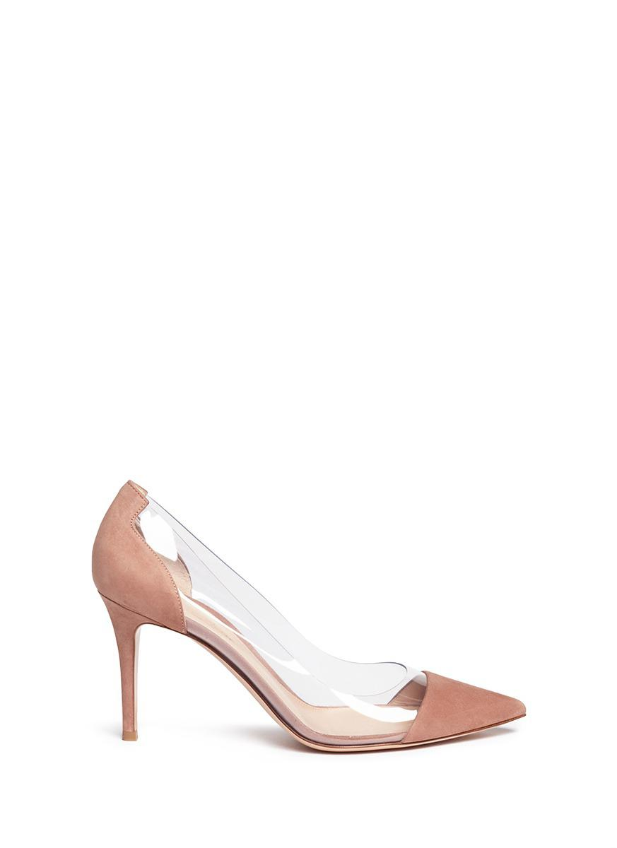 90f96b91545 Lyst - Gianvito Rossi  plexi  Clear Pvc Suede Pumps in Pink