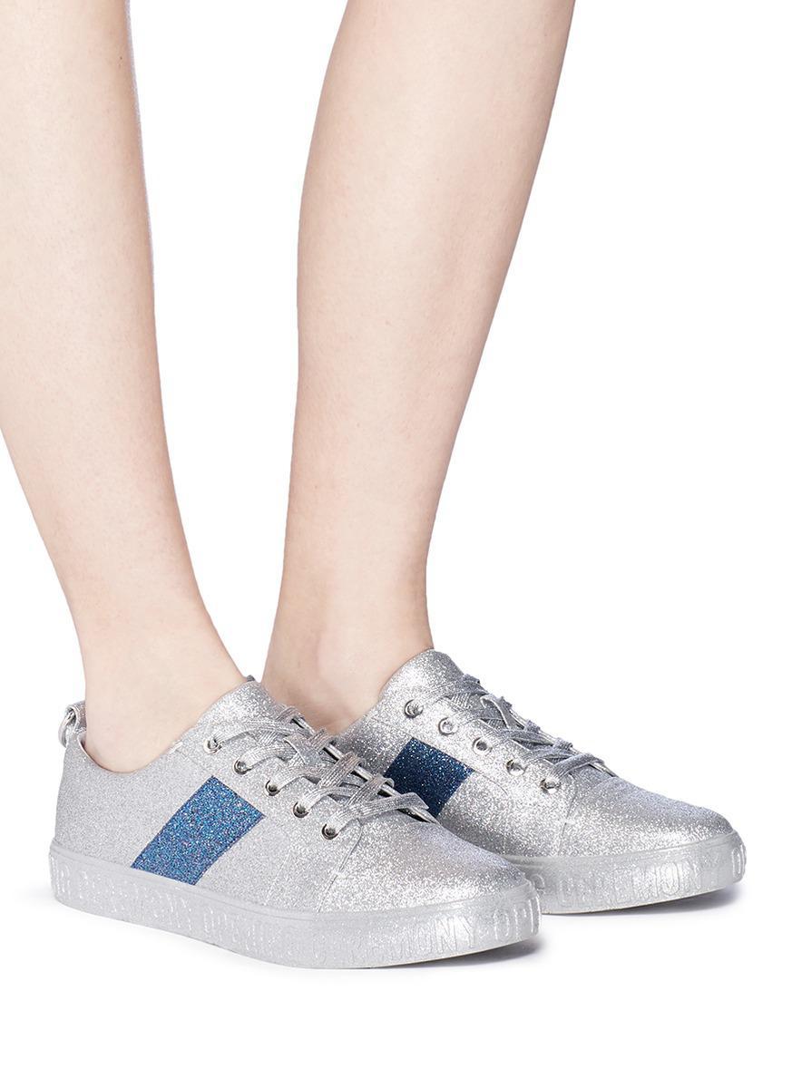 Opening Ceremony Women's La Cienega Glitter Lace Up Platform Sneakers SZbf0PjI5