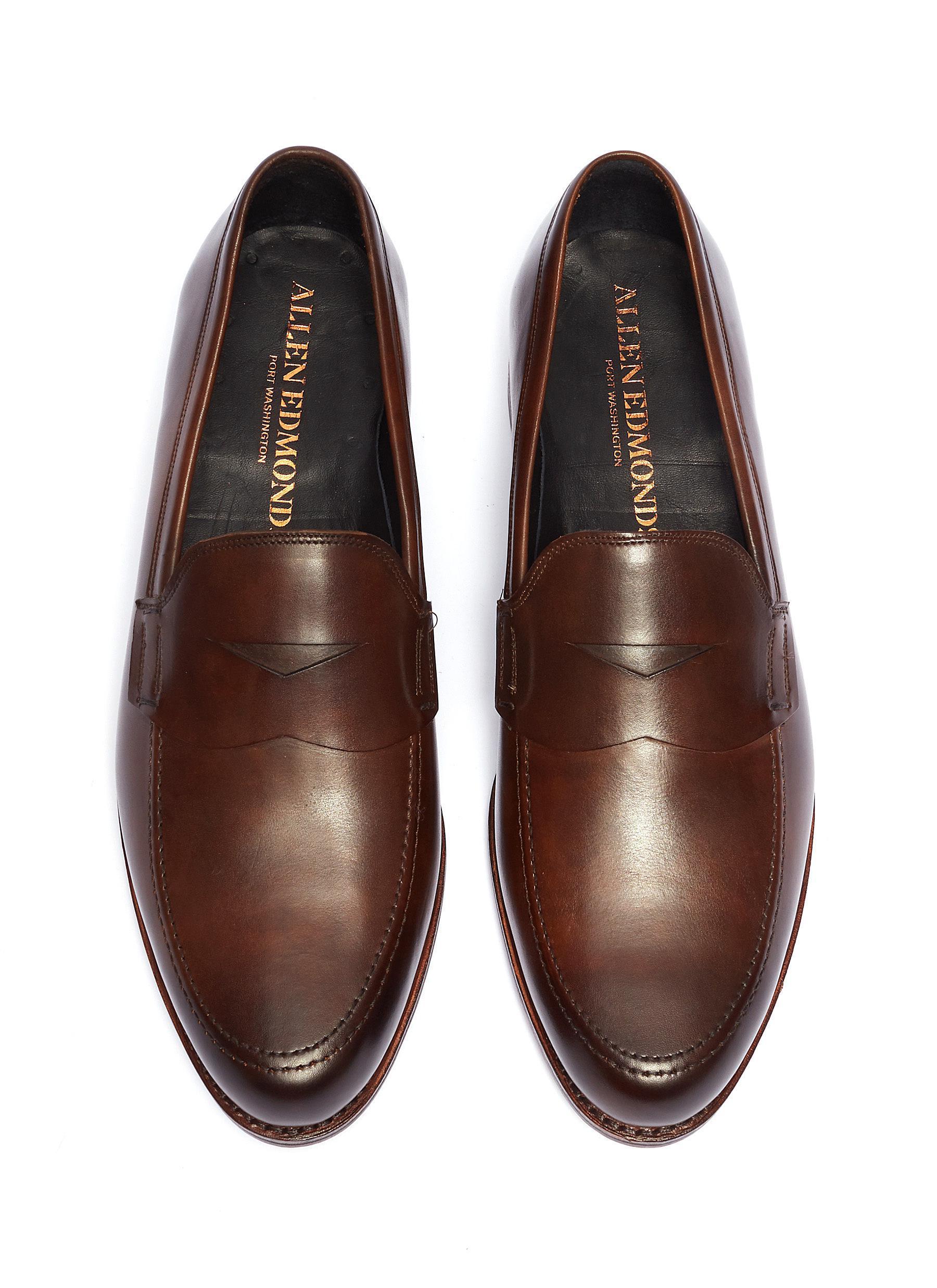 9ca9fbc2e03 Allen Edmonds - Brown  wooster Street  Leather Penny Loafers for Men -  Lyst. View fullscreen