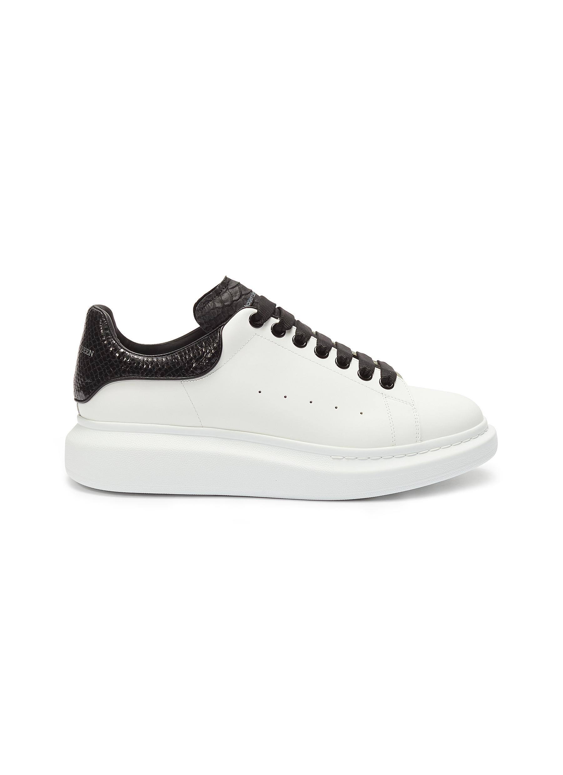 75671ad6 Alexander McQueen 'larry' Snake Embossed Collar Chunky Outsole ...