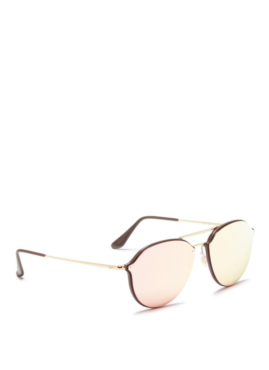 68c55766b82 Gallery. Previously sold at  Lane Crawford · Women s Mirrored Sunglasses  Women s Ray Ban ...