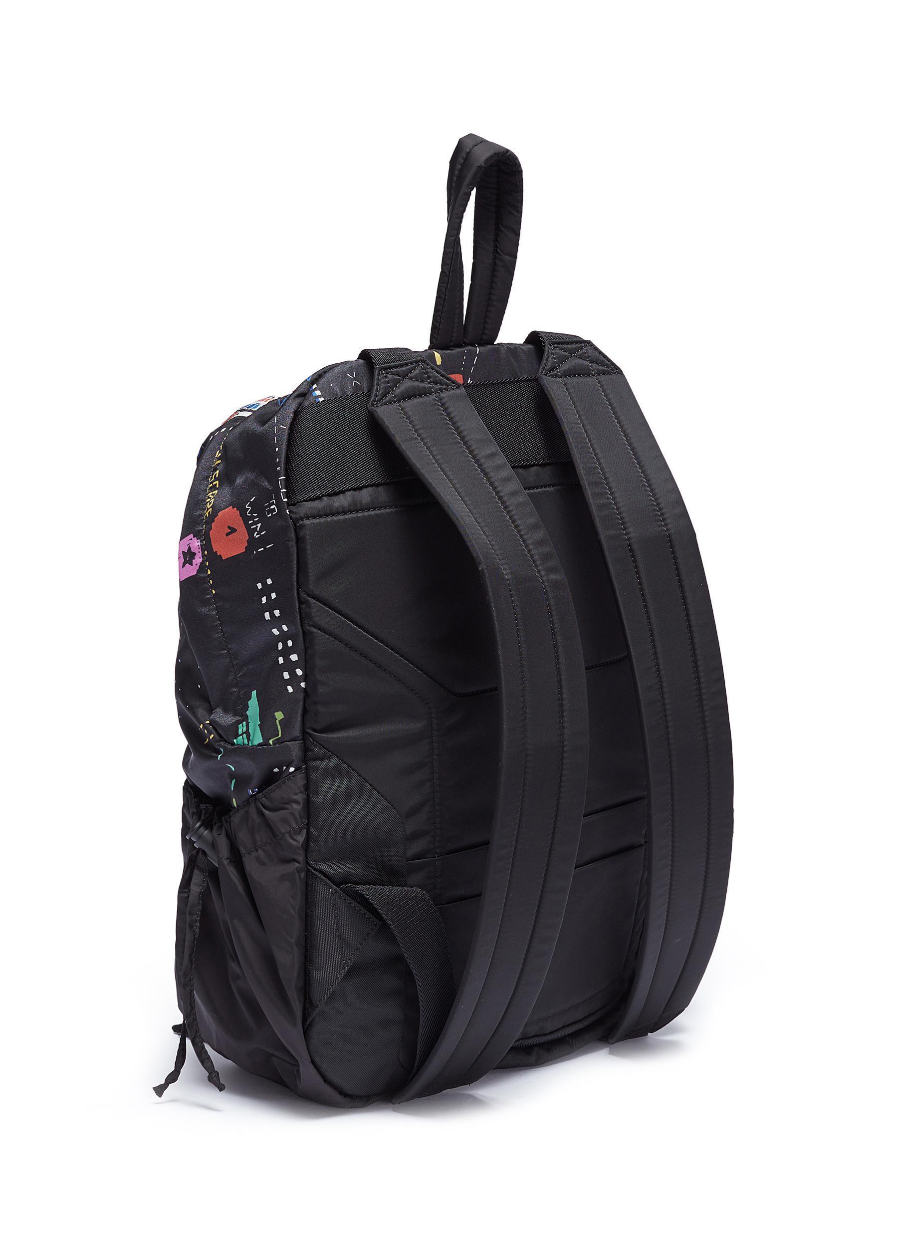Lyst - Valentino Video Game Print Backpack in Black for Men 72af17619e714