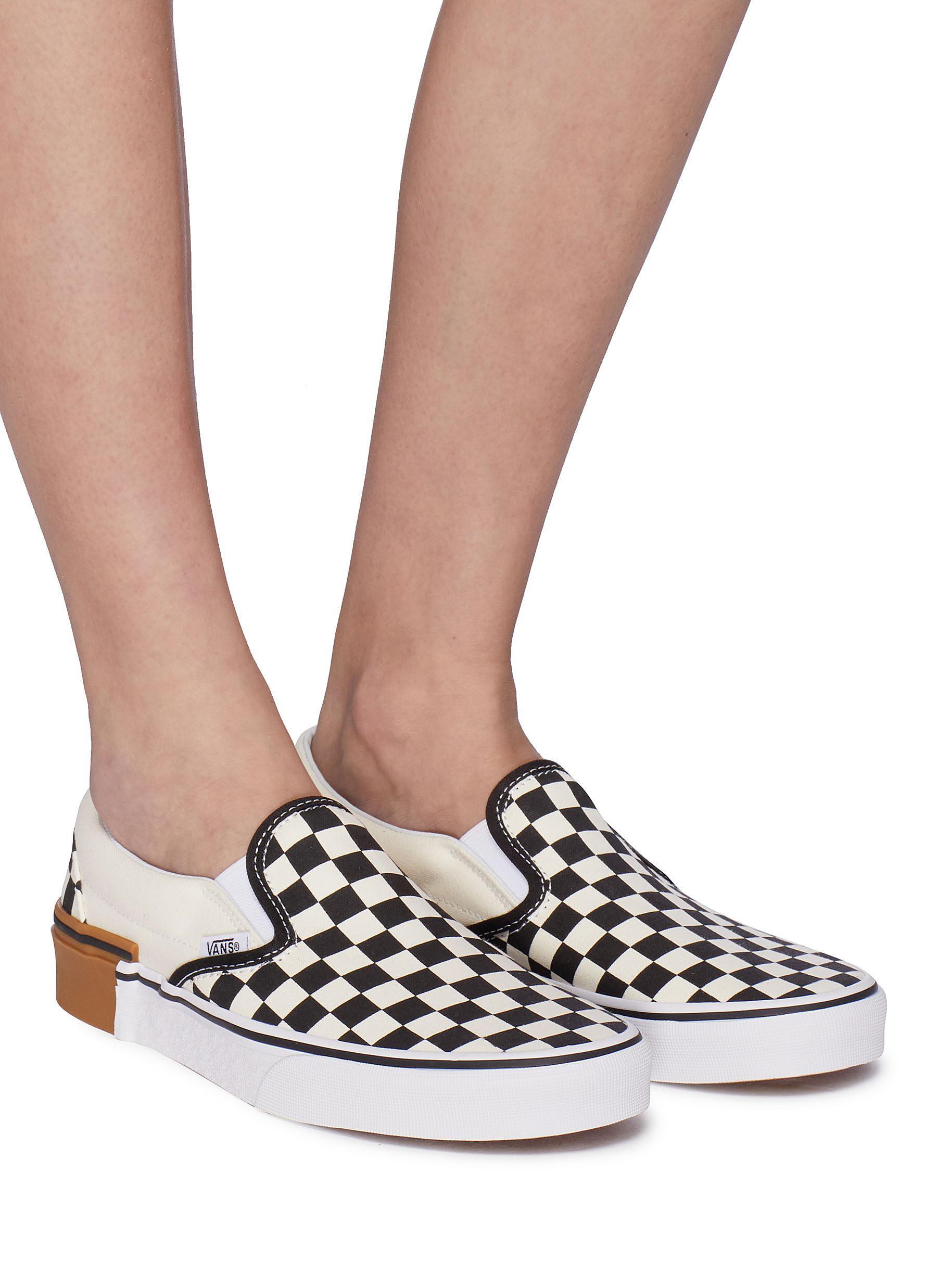 bf6f4205c75 Lyst vans classic slip on gum block checkerboard trainers for men jpg  1800x2475 Gum block slip