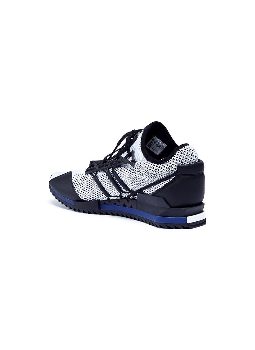 Y-3 Rubber 'harigane' Primeknit Sneakers in White