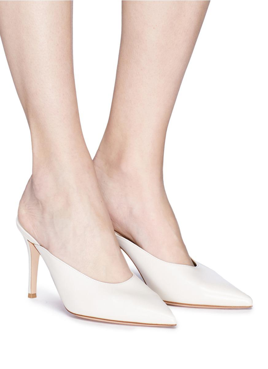 Gianvito Rossi 'reeve' Leather Mules in