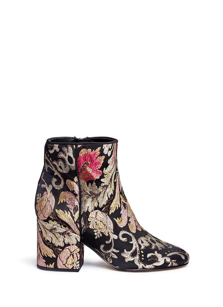 1ef275d1d3f8dd Lyst - Sam Edelman  taye  Floral Jacquard Ankle Boots