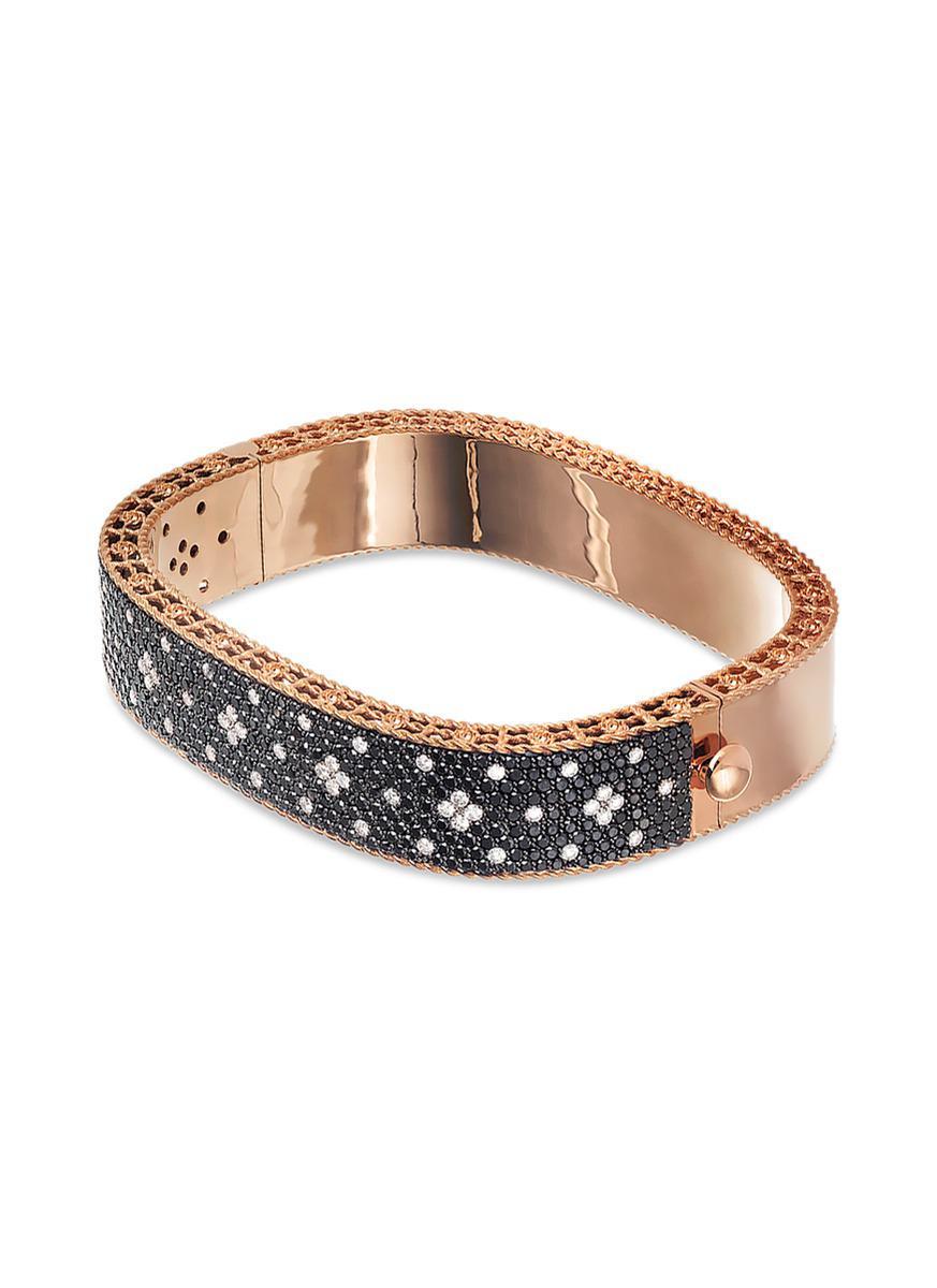 Roberto Coin Venetian Princess 18K Rose Gold & Black Diamond Bangle shhXRzkCcM