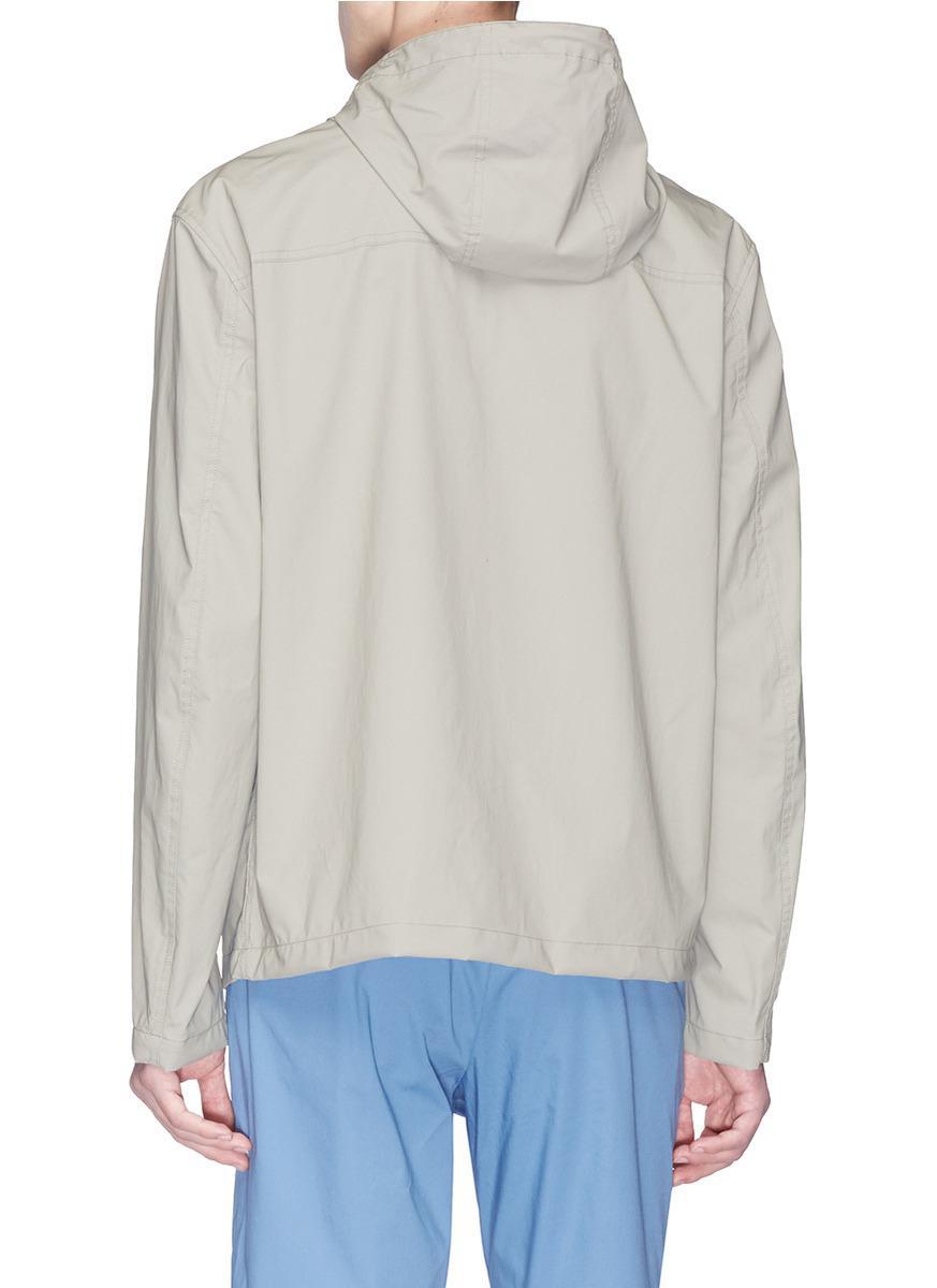 Theory Cotton 'axel' Hooded Windbreaker Jacket for Men