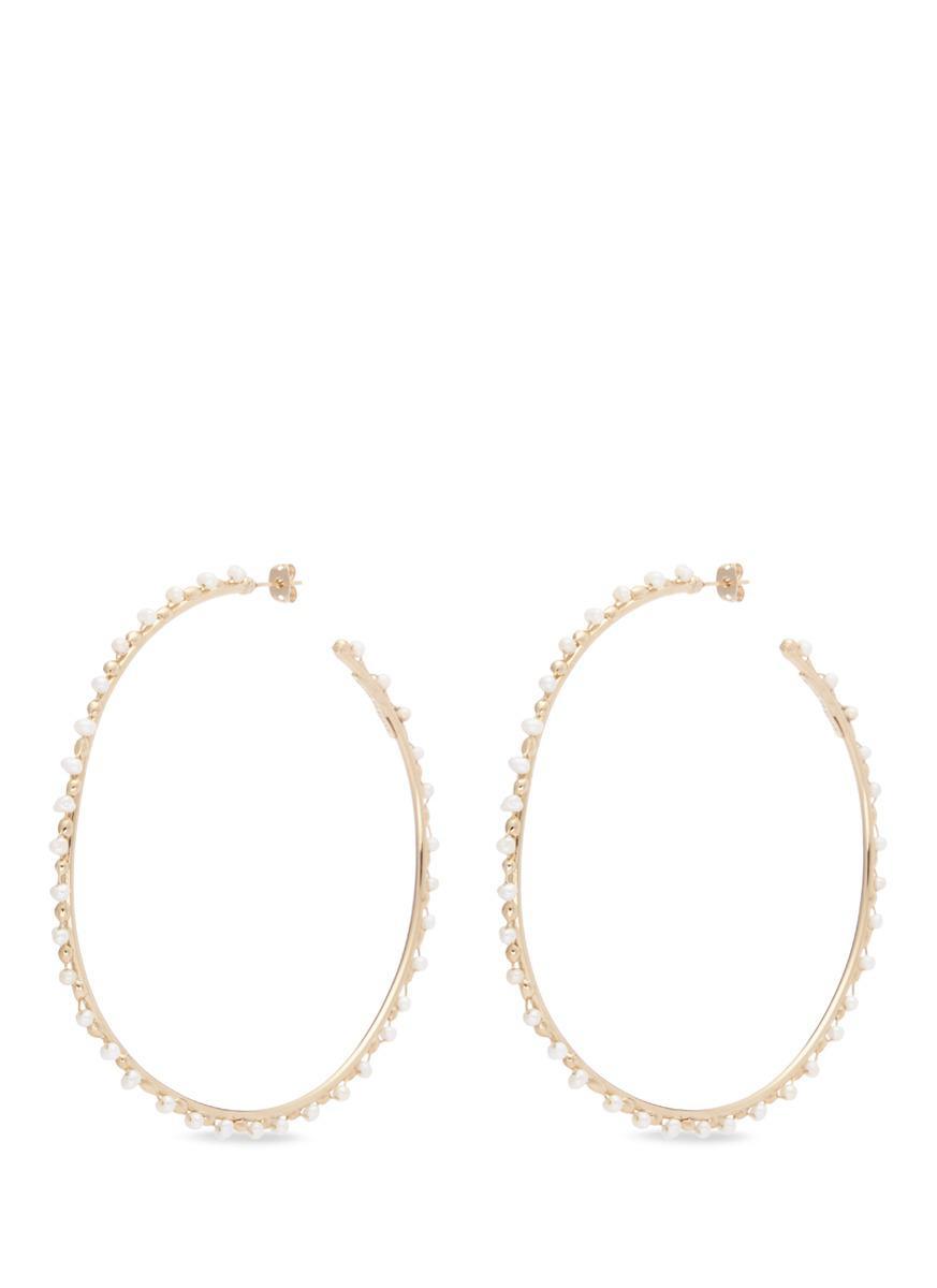 Rosantica metallic gold angola large hoop earrings TzUhsQu4