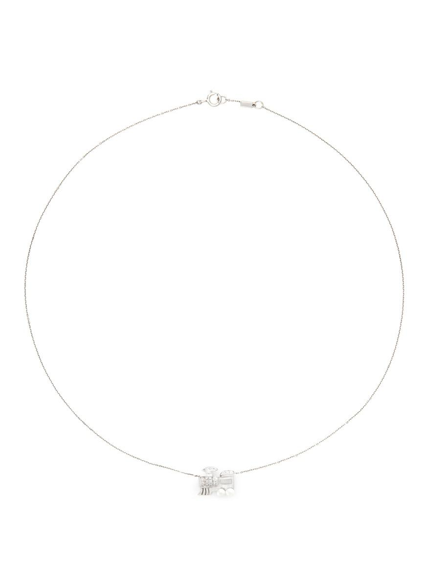 Bao bao wan 'little Train' 18k Gold Diamond Pearl Necklace ...
