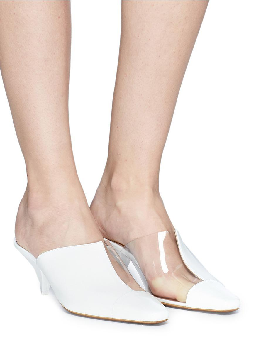 Neous Psycho PVC and Leather Mules 3OpMcrf