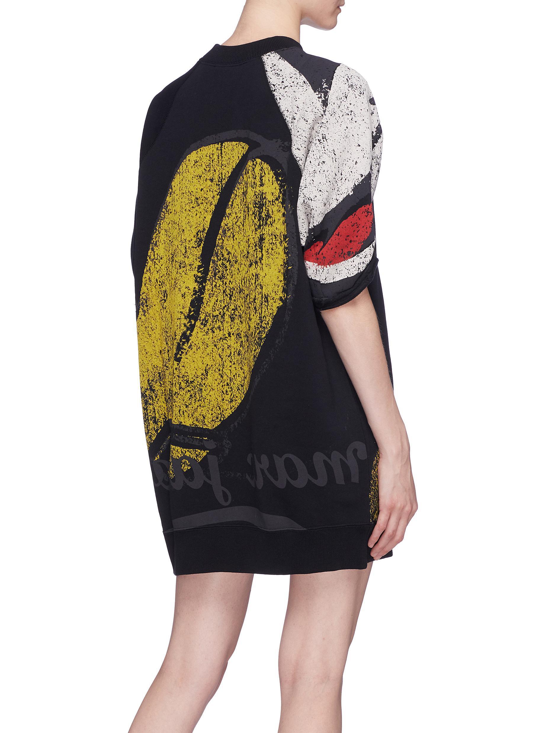 2212489487899 Marc Jacobs X Disney Mickey Mouse Print Sweatshirt Dress in Black - Lyst