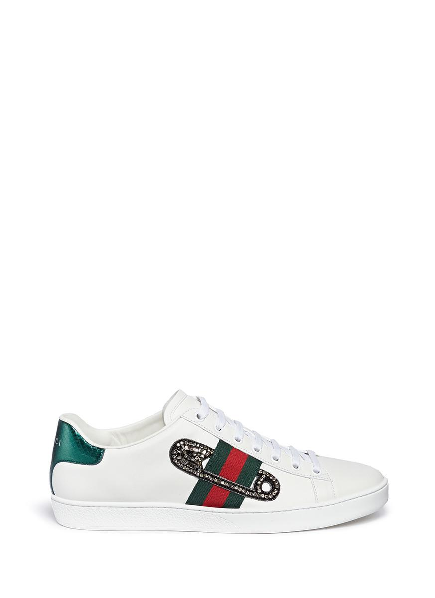 Gucci 'ace' Safety Pin Embellished