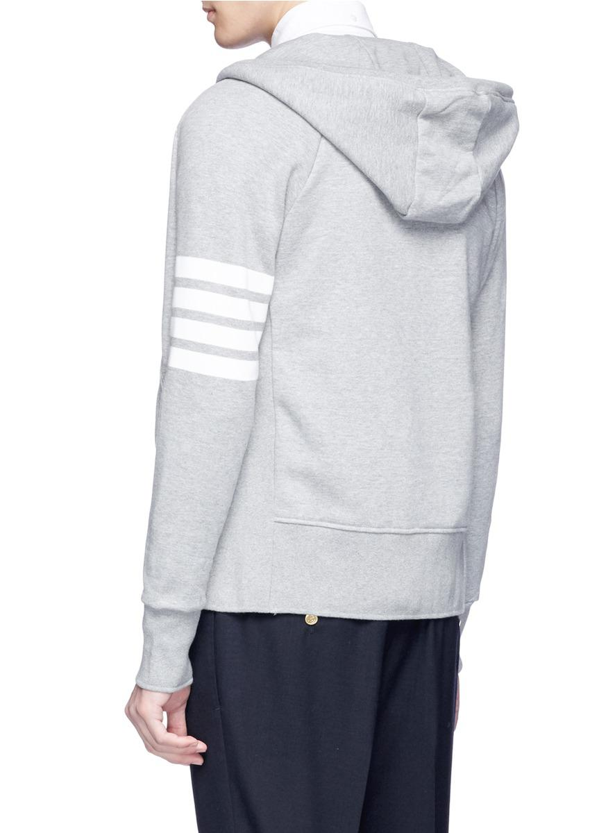 Thom Browne Cotton Stripe Sleeve Jacket in Grey (Grey) for Men